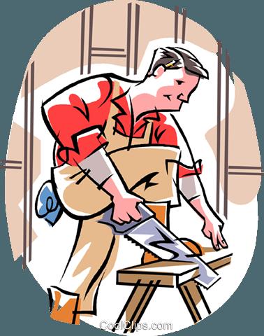 carpenter Royalty Free Vector Clip Art illustration.