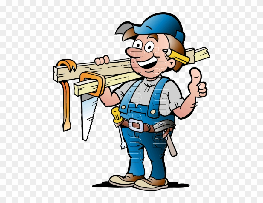Handyman With Carpentry Tools.