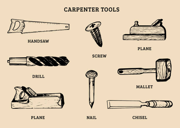 Best Carpenter Illustrations, Royalty.