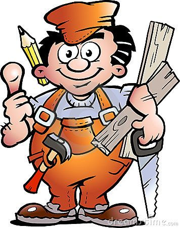 Carpenter Handyman by Poul Carlsen, via Dreamstime.
