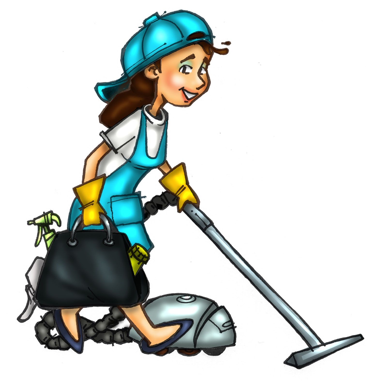 House Cleaning Logos Clipart.