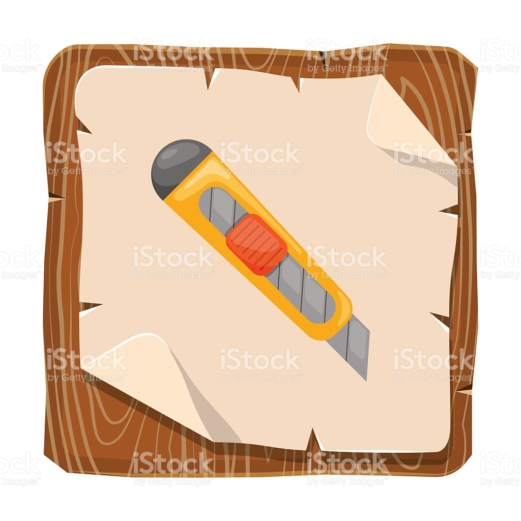 Cutter Colorful Icon stock vector art 590593466.