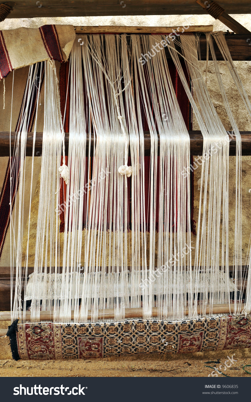 Ancient Rug Weaving.