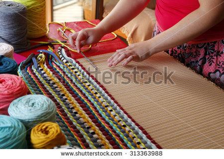 Carpet Weaving Stock Photos, Royalty.