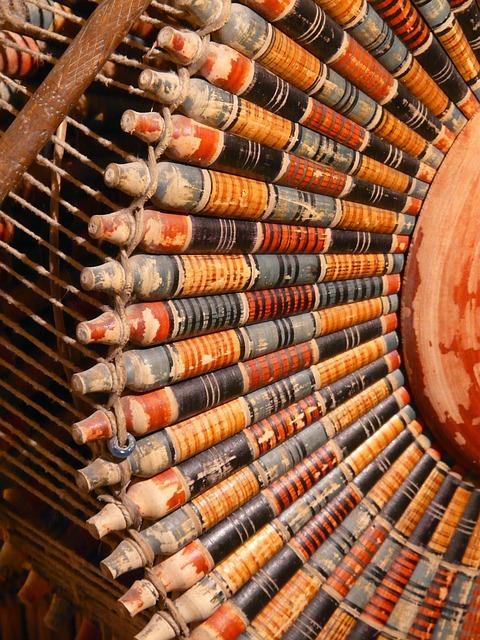 Free photo Spinning Wheel Carpet Weaving Center Spindles Turkey.