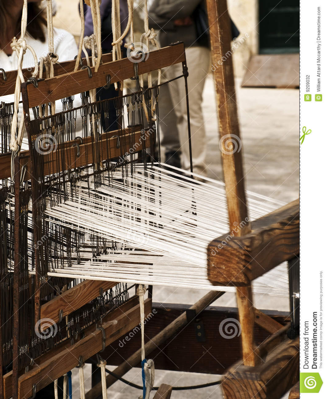 Medieval Carpet Weaving Stock Photography.