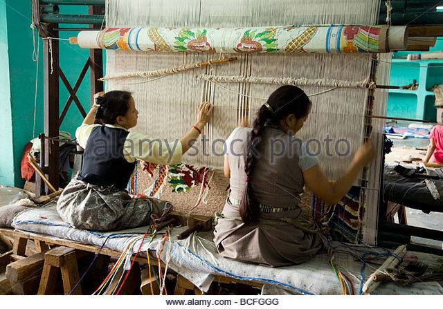 Women Carpet Weavers Stock Photos & Women Carpet Weavers Stock.