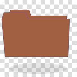 Carpetas de colores, brown folder icon transparent.