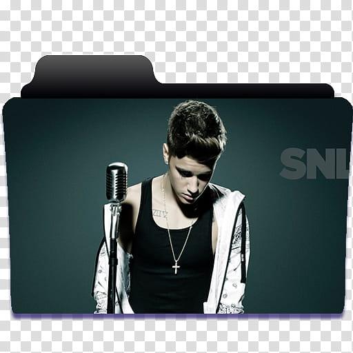 Carpetas de Justin Bieber, transparent background PNG.