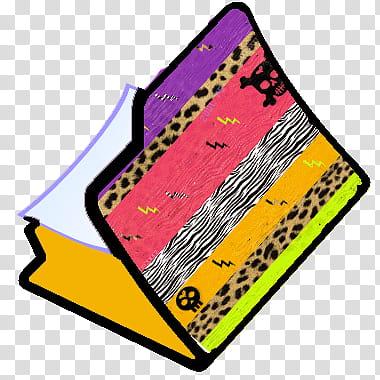 Carpetas e ico AnimalPrint, multicolored folder icon.