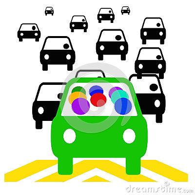 Carpool Stock Illustrations.