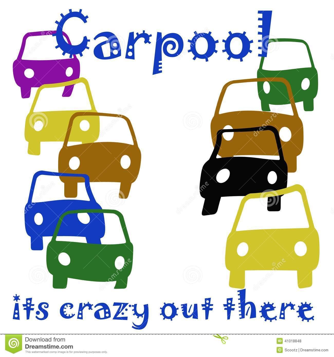 Carpool Crazy Stock Illustration.
