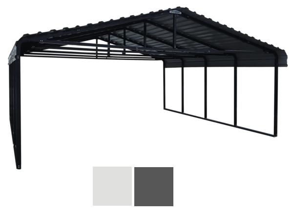 Arrow Charcoal 20 x 20 ft. Carport.
