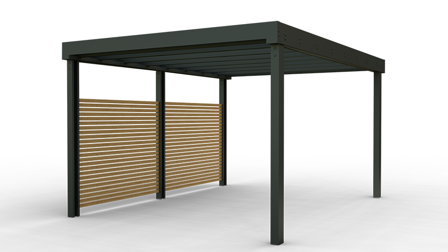 Contemporary carports and shelters launch in the U.K market.