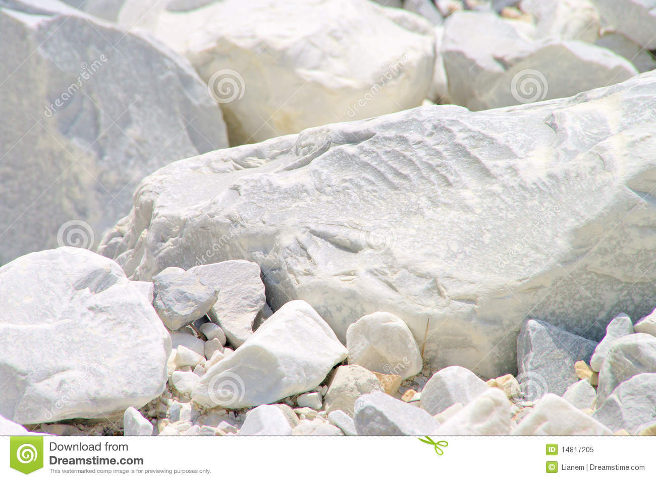 Carrara Marble Stone Pit Royalty Free Stock Photo.