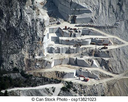 Stock Photo of marble quarry.
