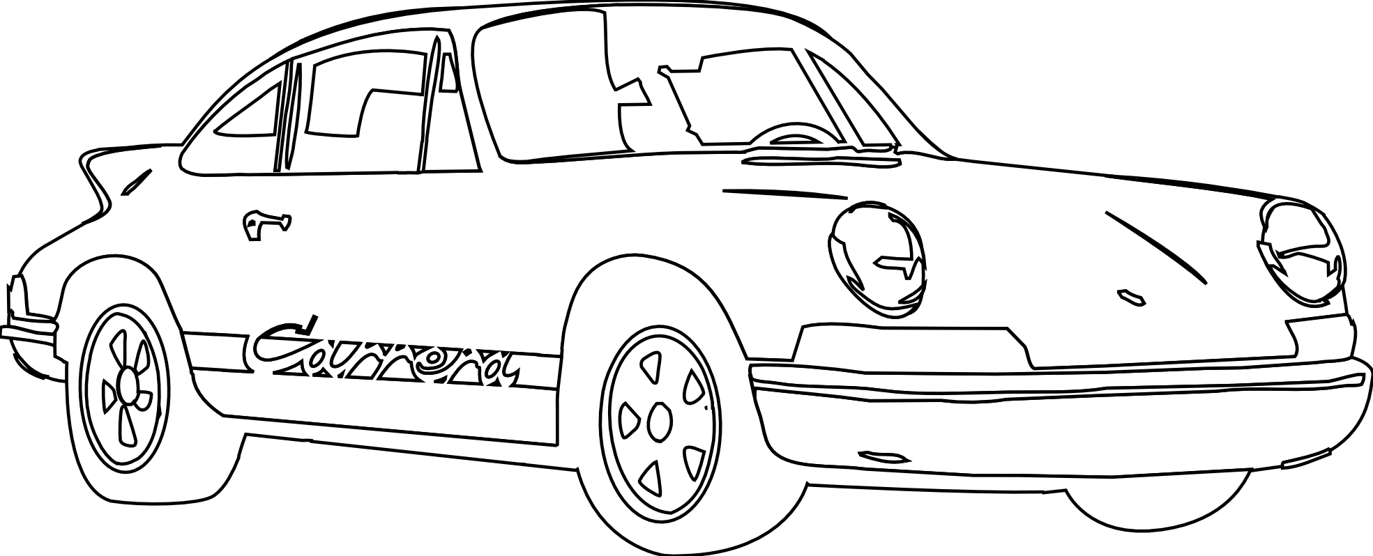 Porsche 911 Carrera White October 2011 openclipart.org commons.