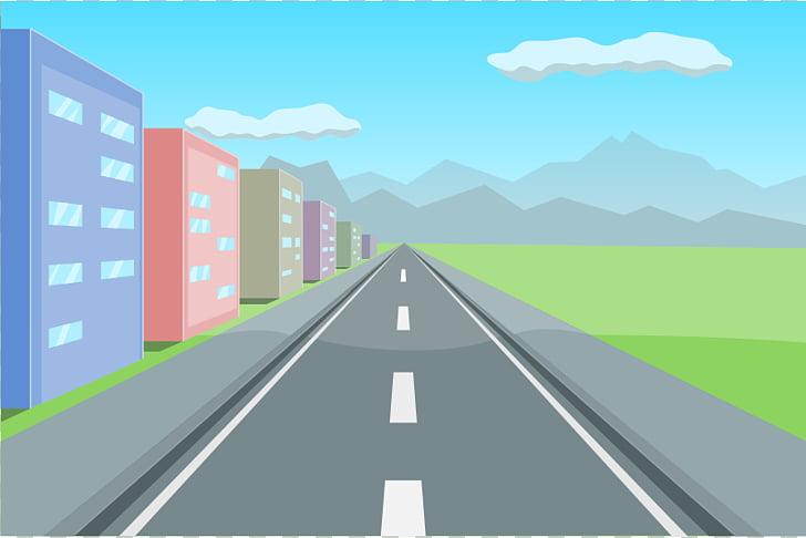 Carretera carretera libre contenido, perspectiva s PNG.