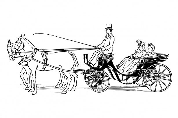 Horse Drawn Carriage Clipart Free Stock Photo.