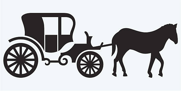 Best Horse Carriage Illustrations, Royalty.