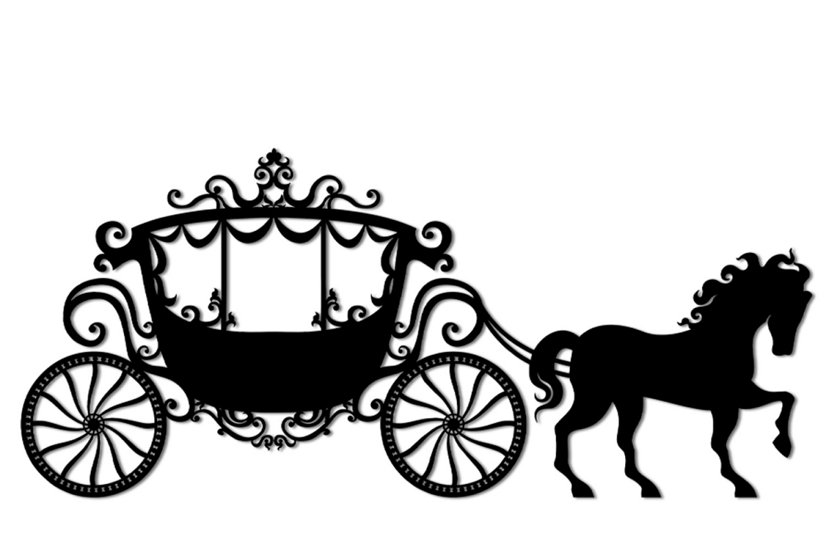 SVG and PNG cutting files, Vintage Carriage,Clipart.