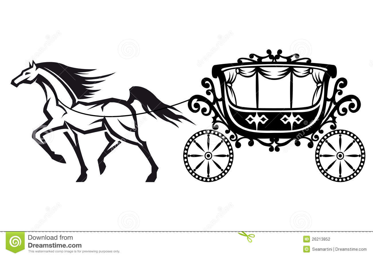 Horse And Carriage Clipart.