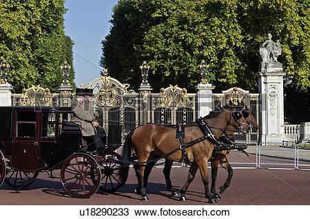 Stock Photo of England, London, Buckingham Palace. A Royal.