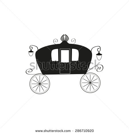 Fairy Tale Carriage Front View Stock Illustration 87868324.