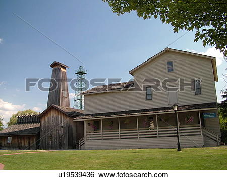 Stock Images of Midland, MI, Michigan, Herbert H. Dow Historical.