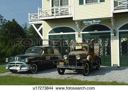 Stock Photo of New Harbor, ME, Maine, Pemaquid, Carriage House.