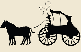 House and buggy clipart.