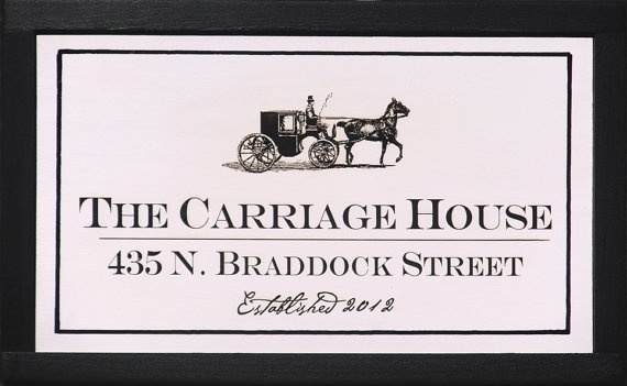 Carriage House Cottage Sign to personalize by Artist.
