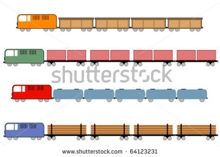 Freight train car clipart.