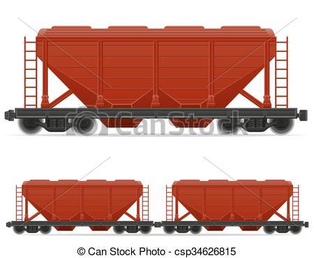 Vector Clip Art of railway carriage train vector illustration.