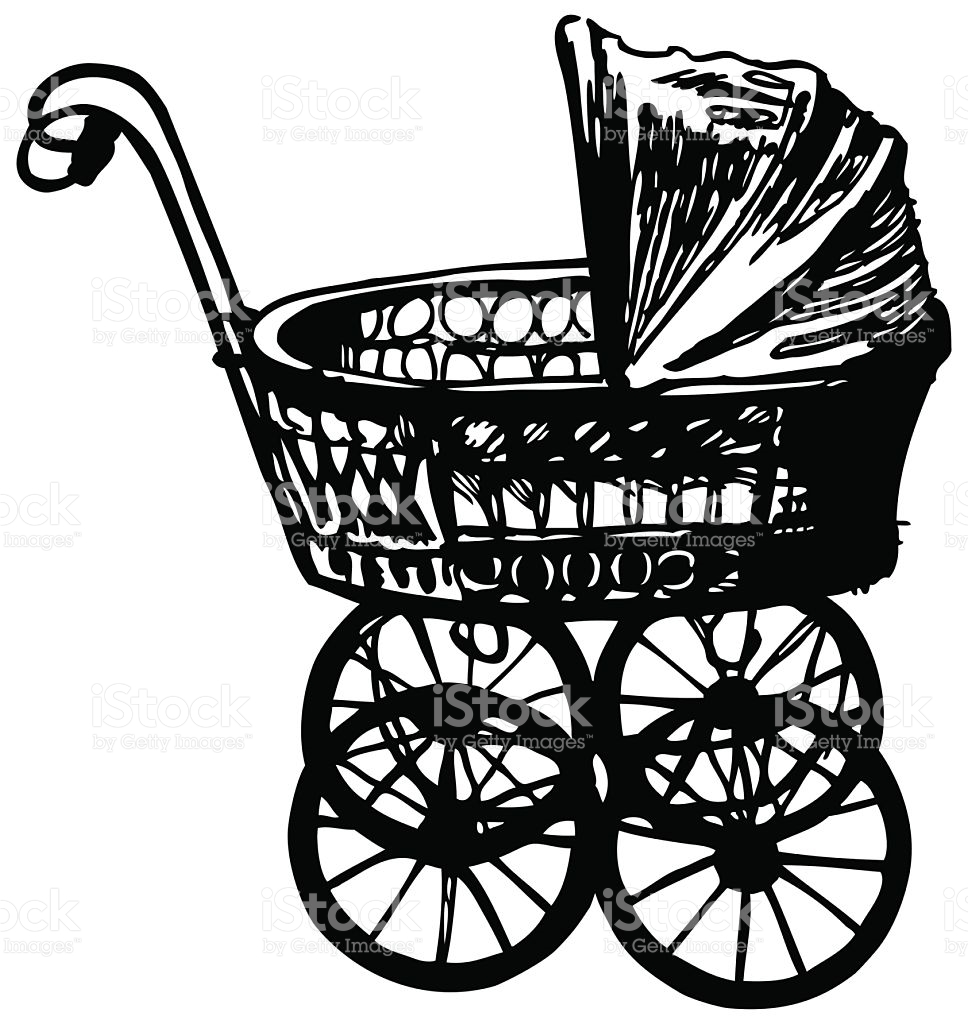 Baby Carriage Retro Style stock vector art 538992483.