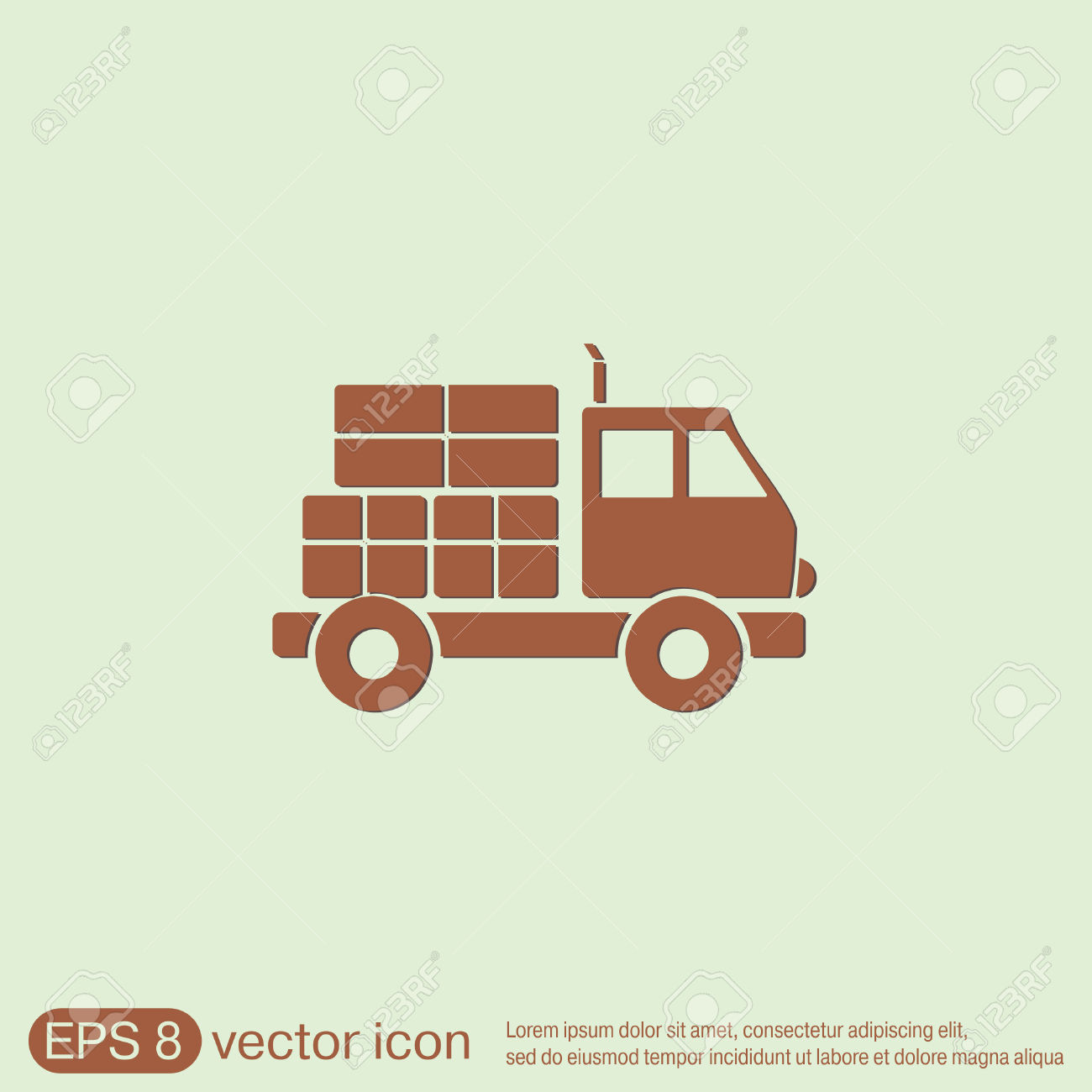 Truck. Logistic Icon. Transportation Symbol. Symbol Icon Laden.