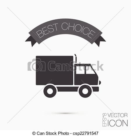EPS Vector of Truck. Logistic icon. symbol icon laden truck.