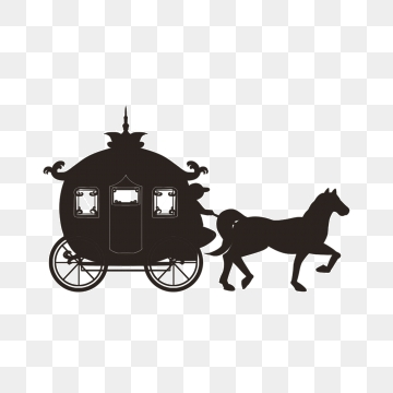 Carriage Horse PNG Images.