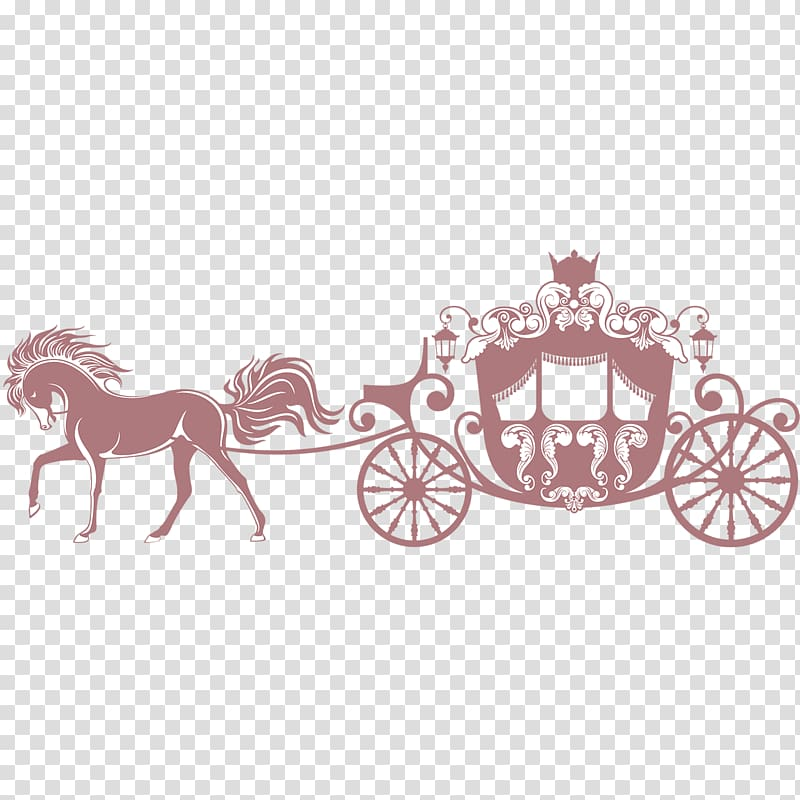 Horse Carriage , Princess\'s carriage, silhouette of carriage with.