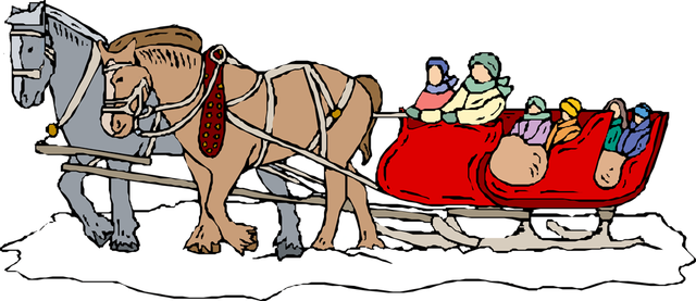 Images for clipart christmas sleigh ride.