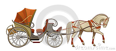 Horse Carriage Stock Illustrations.