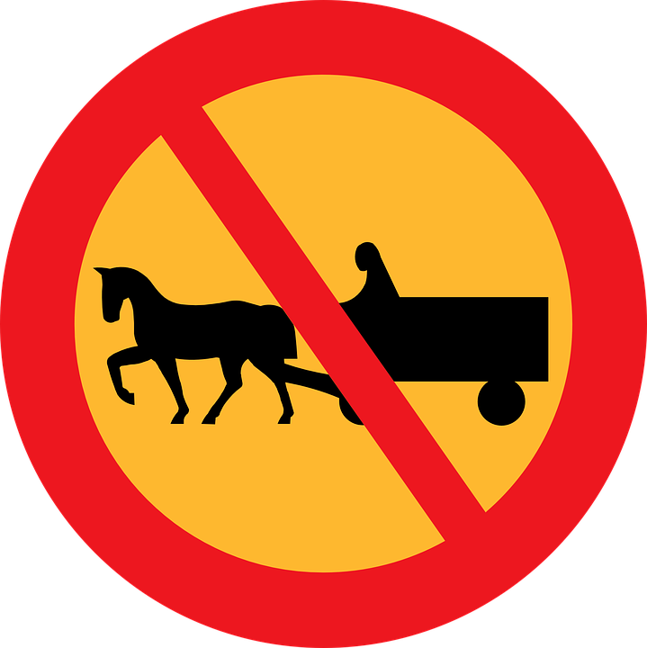 Free vector graphic: No Carriages, Road Sign, Roadsign.