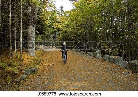 Pictures of Biking on Carriage Road k0689778.