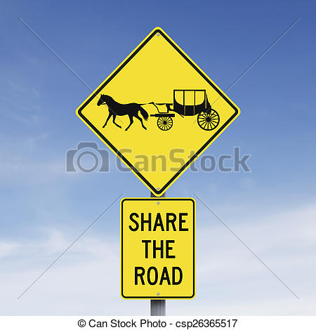 Stock Photography of Share the Road.