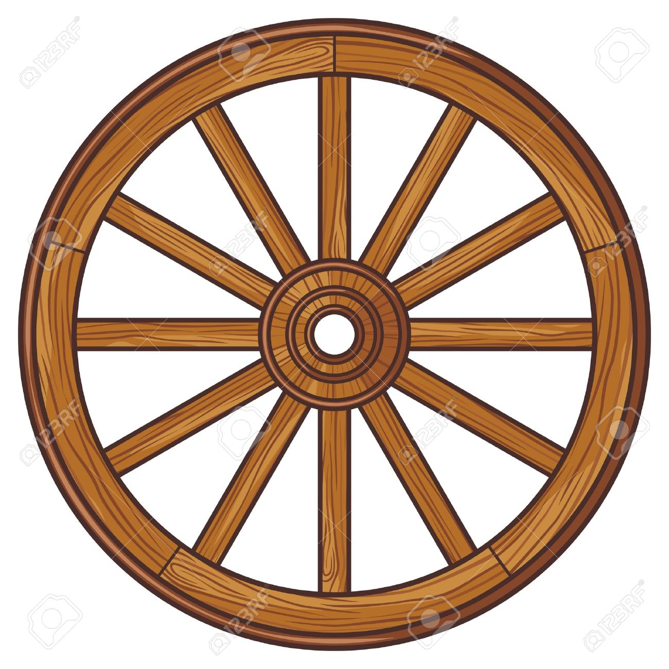 Old Wooden Wheel Royalty Free Cliparts, Vectors, And Stock.