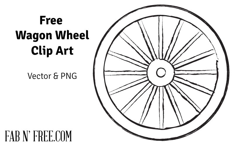 Free Pioneer Quote + Free Wagon Wheel Clip Art.