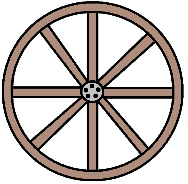 Western Wagon Wheel Clipart.