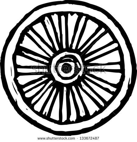 Wagon Wheel Vector Stock Photos, Royalty.