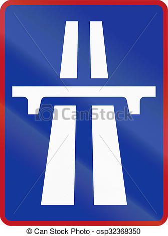 Stock Illustrations of Sign marking the beginning of a Dual.