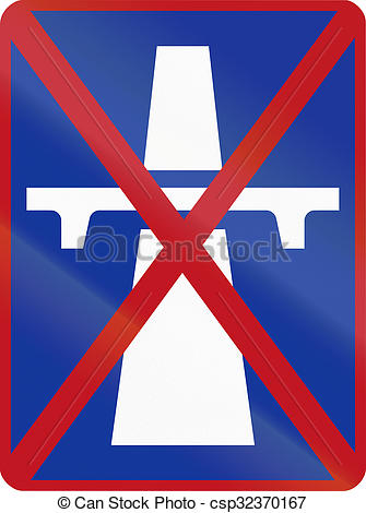 Stock Illustration of Sign marking the end of a single.